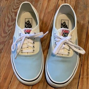 Vans | Light Blue & Yellow Lace Sneakers